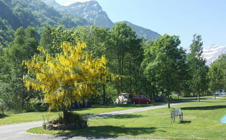 Camping Gavarnie in de zomer