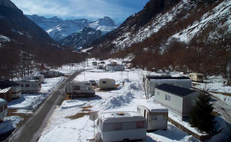 Camping Gavarnie in de winter