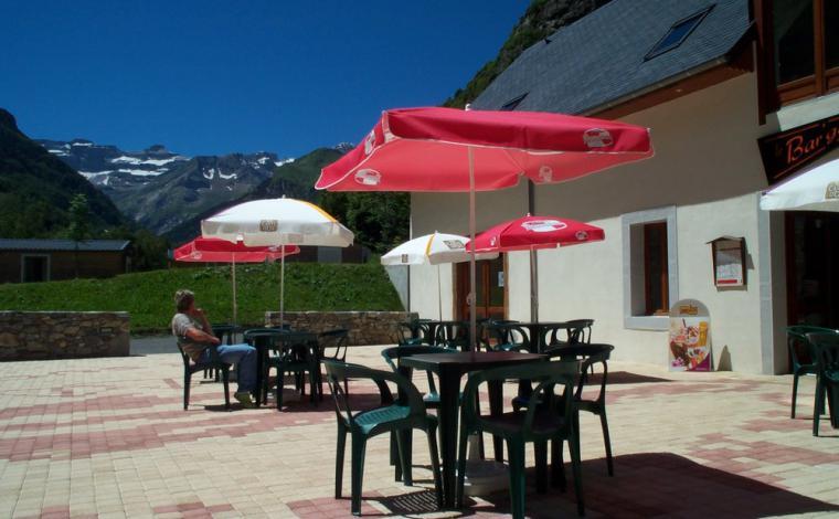 Terrace in the sun of Gavarnie